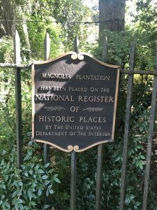Magnolia Plantation Has been placed on the National Register of Historic Places