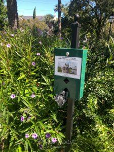 Pet Waste Receptacle at Colonial Lake Park in Charleston SC