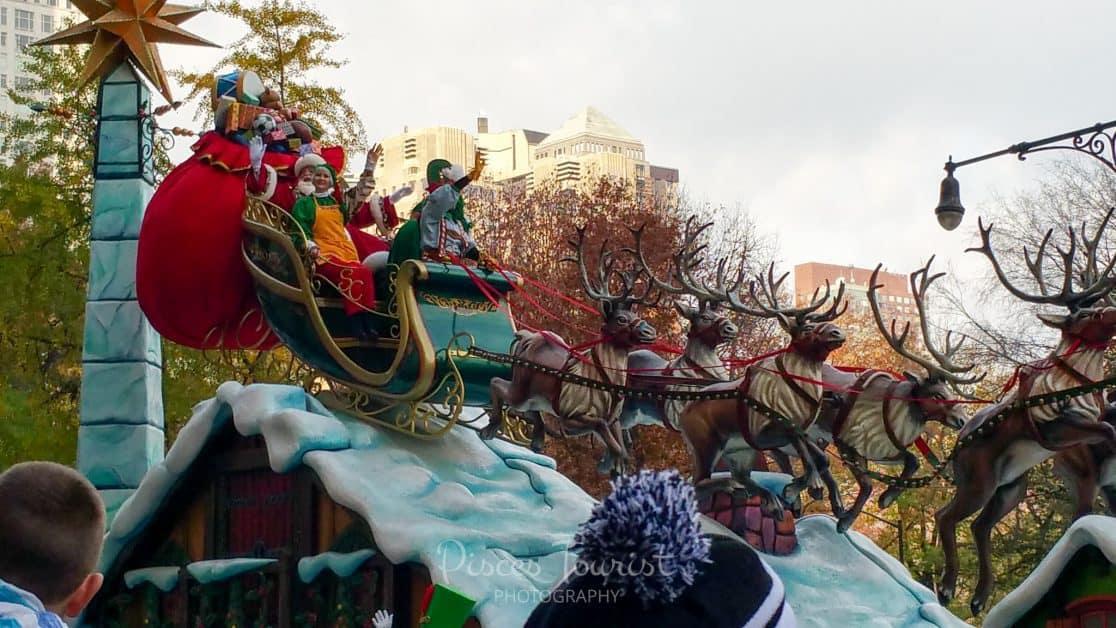 Santa Clause at the Macys Thanksgiving Day Parade