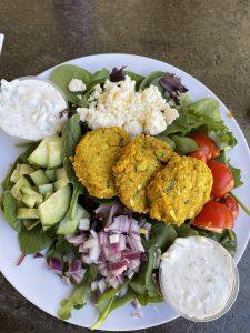 Falafel Salad at the Herban Market Cafe Pisces+Tourist